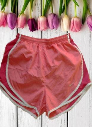 🌹🌹nike dri - fit спортивные женские шорты с плавками коралловы...