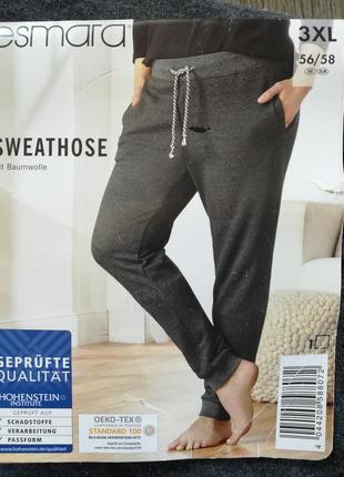 Спортивные штаны, джоггеры с начесом 3xl 54-56 esmara, германия