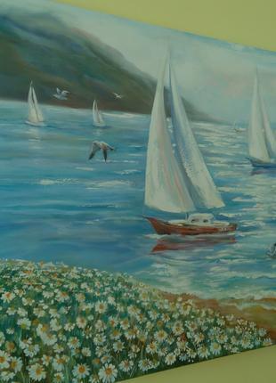 "Живопись. Картина ""Яхты"""