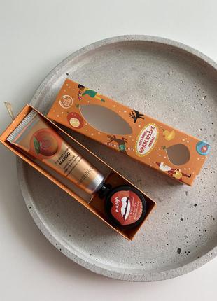 Подарочный набор, крем+бальзам, the body shop sweet mango