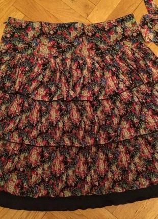 Летняя шифоновая юбка плиссе от бренда karla design