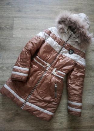 Шикарный пуховик куртка пальто