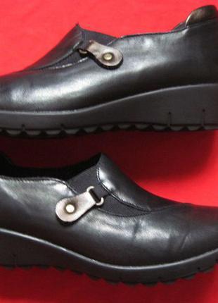 Remonte (38) кожаные туфли слипоны женские