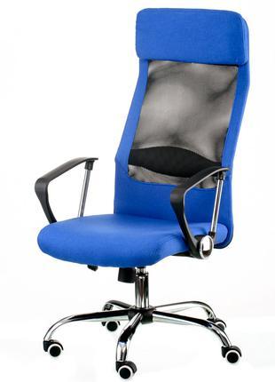 Кресло руководителя офисное Silba blue