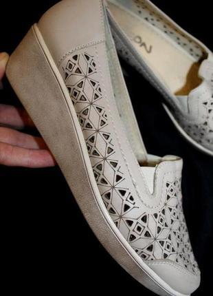 38 разм. шикарные туфли peon comfort. кожа