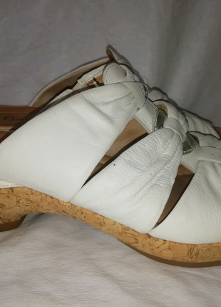 Gabor comfort кожаные шлепки шлепанцы р. 40 ст. 26 см