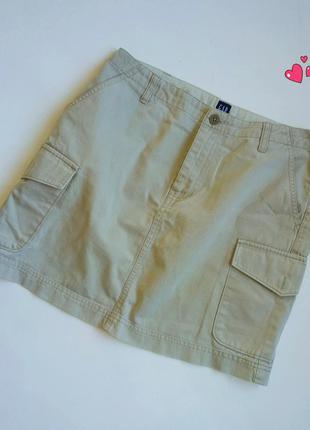 Юбка gap с боковыми карманами в стиле кэжуал,молодежная одежда