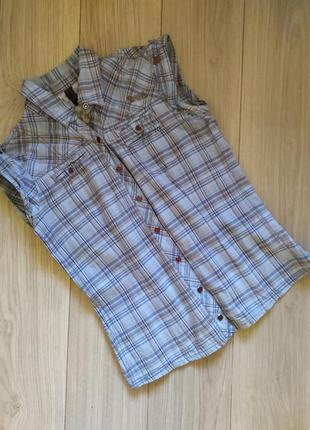 Женская хлопковая рубашка-безрукавка only