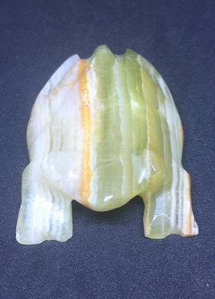 Фигурка из камня Оникс Жаба Лягушка натуральный камень