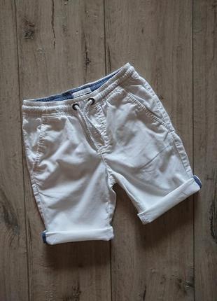 Шорты белые зауженные лен bluezoo debenhams 4-5 лет 110 см