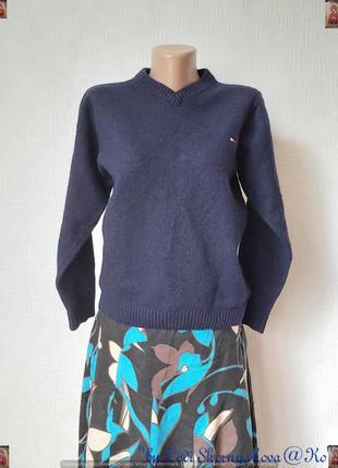 Фирменный tommy hilfiger свитер/кофта на 80 % шерсть в темно с...