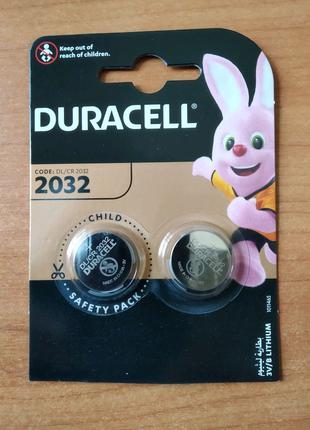 Батарейки Duracell DL2032 (cr2032, 2032) 2шт