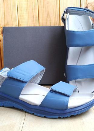 Суперские кожаные стильные сандалии удобные босоножки ecco x-t...
