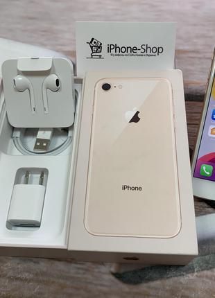 Скидка! iPhone 8 64гб Gold NEVERLOCK полный комплект,гарантия.