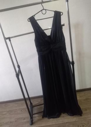 Шикарное вечернее платье с шифоновыми вставками