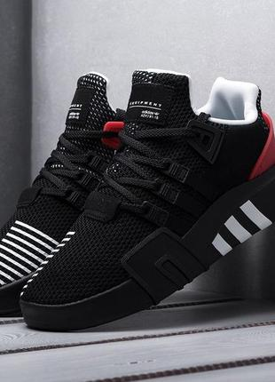 Мужские кроссовки adidas eqt (черные)