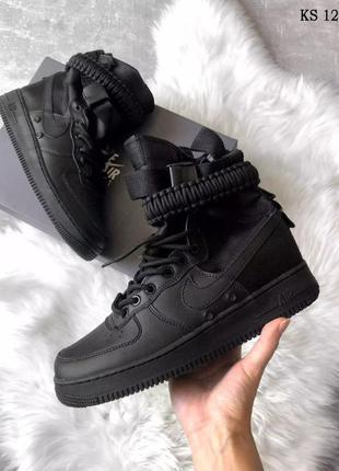 Мужские кроссовки nike sf air force 1 (черные)