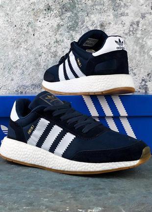 Мужские кроссовки adidas iniki runner (синие)