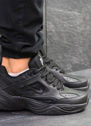 Мужские кроссовки nike м2k tekno (черные)