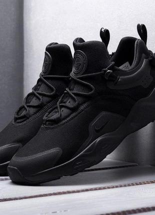 Мужские кроссовки nike huarache city (черные)