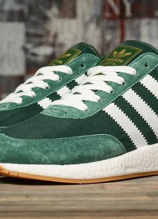 Мужские кроссовки adidas iniki runner (зеленые)