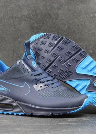 Мужские кроссовки nike air max 90 ultra mid (синие)