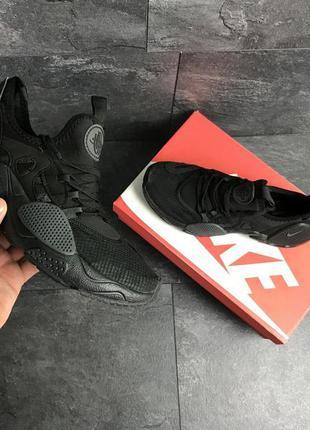 Мужские кроссовки nike air huarache e.d.g.e (черные)
