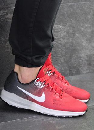 Мужские кроссовки nike air zoom structure (красно серые)