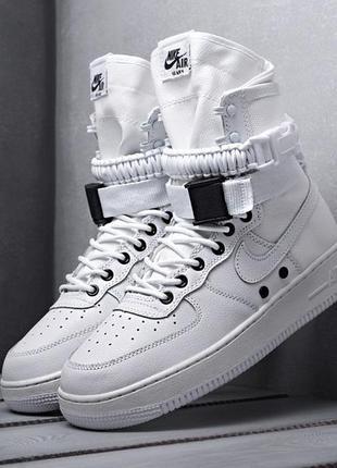 Мужские кроссовки nike sf air force 1 (белые)
