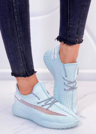 Новые женские мятные кроссовки
