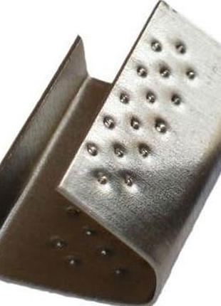Скріпа металева 16мм важка з пуклями