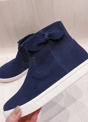 H&m - замшевые деми ботиночки