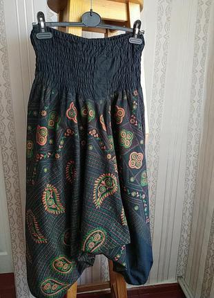 Бохо стиль штани афганки натуральная ткань