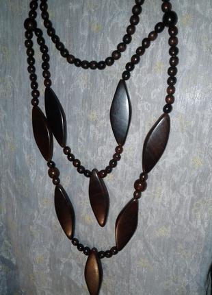 Колье из дерева (груша), hand-made