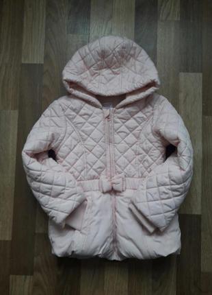 Теплая курточка для модницы, 4-5 лет