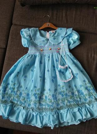 Нарядное летнее платье, 4-5 лет