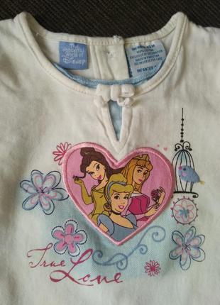 Фирменная футболка disney, 1,5 - 2,5 года