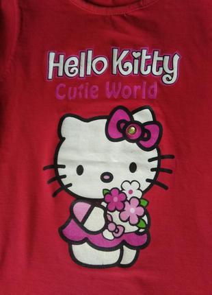 Футболка hello kitty, 7-9 лет