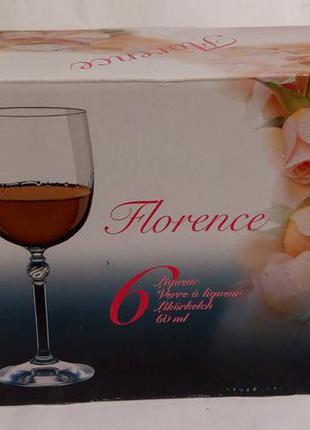 Набор рюмок для ликера bohemia florence 50 мл 6 штук чехия