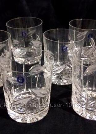 Набор хрустальных бокалов для виски 6 шт 280 мл