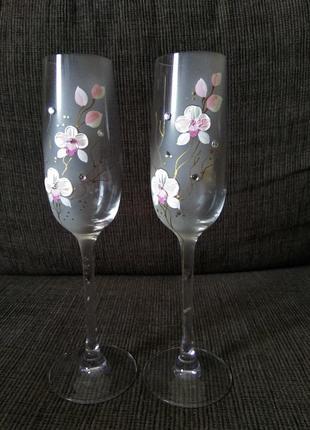 Набор свадебных бокалов вуаль 2 шт 190 мл