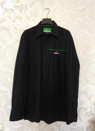 Рубашка мужская черная, р. 50-52