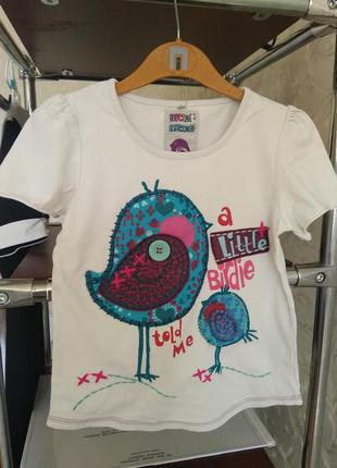 Красивая футболка next для девочки 5-7 лет