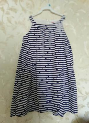 Красивое летнее платье из хлопка на девочку name it, 8-11 лет