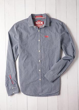 Мужская стильная клетчатая рубашка от культового бренда superd...