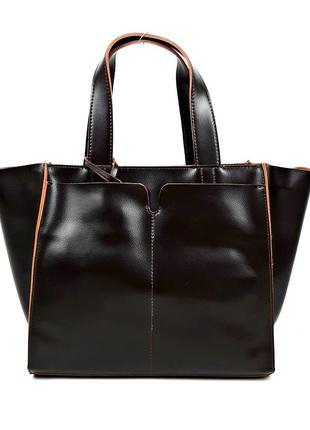 Кожаная женская сумка цвета, galanty темно-коричневая (шоколад)