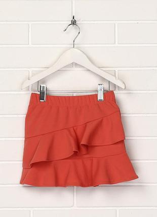 Новая юбка для девочки с воланом.