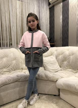Кашемировое модное пальто для девочки
