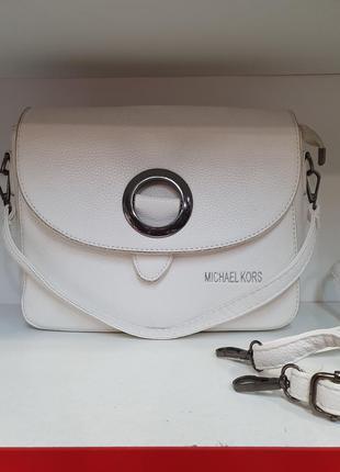 Женская модная сумочка белого цвета/ сумочка- клатч/ сумочка ч...