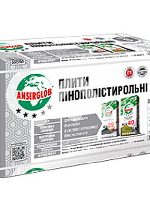 Плита пенополистирольная Anserglob EPS-S 1000х500х20 мм